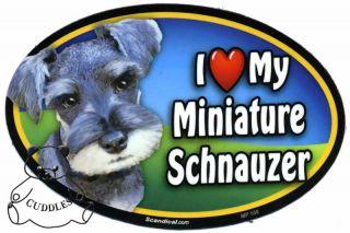 I Love My Miniature Schnauzer Dog Magnet Scandical Heart Puppy Mini Pet Lover