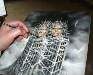 Original Oil Painting by Magitis Dark Surreal Fantasy Horror Art Sketch