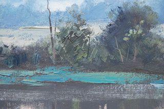 Gercken Sunrise River Impressionist Landscape Fine Art Original Oil Paintings