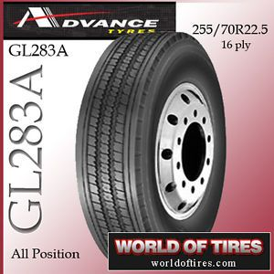 Advance GL283A 255 70R22 5 16 Ply 22 5 Semi Truck Tire