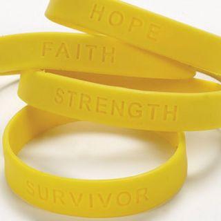 12 Yellow Bone Bladder Cancer Awareness Bracelets