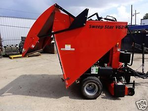 Smithco Sweep Star V62 Turf Sweeper Vacuum Debris Kawasaki 617cc Gas Engine