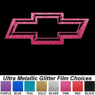 "Chiseled Look Metallic Chevy Bowtie 13"" Auto Car Truck Window Sticker Decals"