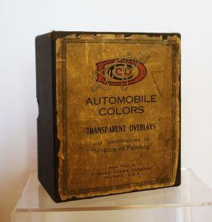 Early Ditzler Automotive Color Paint Samples