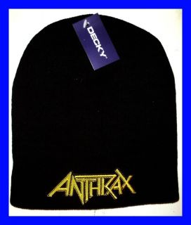 Anthrax Licensed Beanie Skull Cap New T Shirt Metal