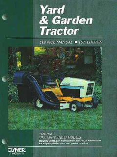 Complete 1 Cylinder Yard Garden Tractor Shop Manual