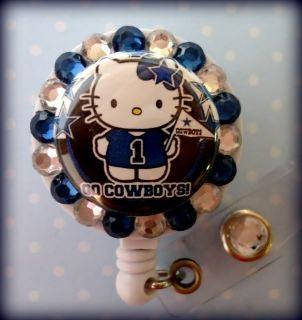 Dallas Cowboys Hello Kitty Fan ID Reel Badge Holder