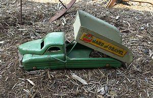 Antique Vintage Tractor Trailer Toy Buddy Dump Truck Sand Gravel Truck Childs