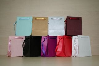 Extra Small Paper Gift Bags Pink White Black Gold Silver Blue Pack of 102