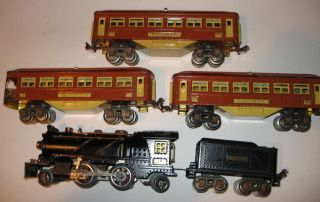 Pre War Lionel Passenger Set 144 w 262 Engine 262T Tender 613 613 614 CA