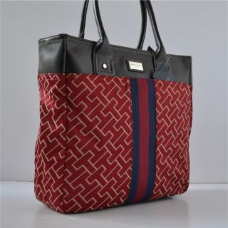 Tommy Hilfiger Large Red Handbag Tote Bag