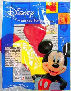 2 Disney Mickey Ear Latex Balloons Party Supplies