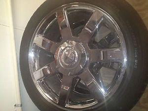 """22"""" Cadillac Escalade Chrome Wheels Rims Tires"""