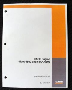 Case 521D 621D Loader Tractor 4TAA 4502 6TAA 6802 Engines Service Repair Manual