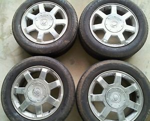 4 16 Cadillac cts Factory Stock Wheels Rims Tires Michelin 225 55R16 STS In