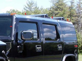 Hummer H2 2003 2009 8PC Mirror Stainless Top Rail Cover