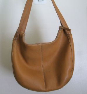 Fossil Brown Pebble Leather Hobo Bag Signature Liner