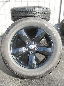 """20"""" Dodge RAM 1500 Factory Gloss Black Wheels with Goodyear Tires 2453 092501"""