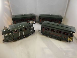 Lionel Trains New York Central Pre War 153 Engine Three Cars Pullman 629 630