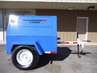 Grimmer Schmidt 100 CFM Diesel Air Compressor Trailer Mounted with EXTRAS Nice