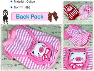 Dog Clothes Pig Costume Pet Apparel Backpack Shirt 898