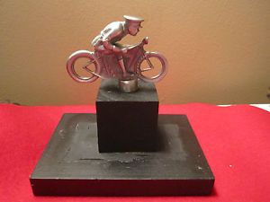 Custom Bobber Motorcycle Hot Rod Rat Rod Hood Ornament