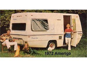 1972 Amerigo Travel Trailer Refrigerator Magnet