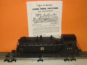 Lionel 623 ATSF Diesel NW2 Switcher Enginer Sante FE Or