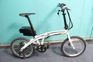 2013 Foldable Electric Bicycle 48V 350W E Bike with 48V 12AH Frog Case Battery