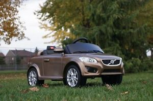 Bronze Volvo Ride on Toy Battery Operated Car for Kids