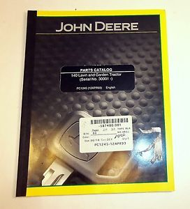 John Deere Parts Catalog Manual 140 Lawn Garden Tractor PC 1245