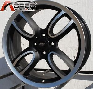 17x7 Black Mini Cooper s Style Wheel Tires Packages Fit All Year Mini 4x100