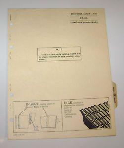 John Deere Auger Conveyor Parts Catalog Manual Book JD