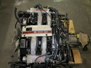 90 96 Nissan 300zx VG30DETT Twin Turbo Engine JDM Fairlady Z32 VG30 A T ECU