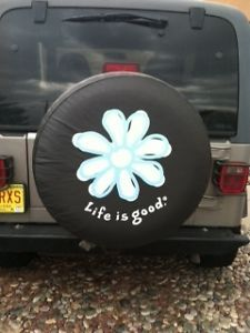 """Jeep Wrangler Spare Tire Cover """"Life Is Good"""""""