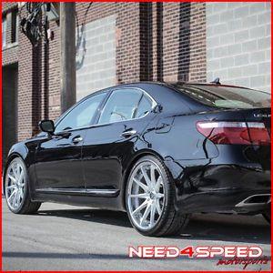 "22"" Lexus LS460 LS Rohana RC10 Concave Silver Staggered Wheels Rims"
