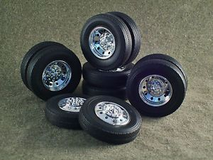 1 25 Scale Model Car Parts Junk Yard White Wall Tires Wheels BF Goodrich