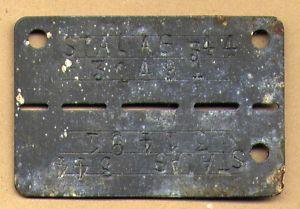 German WWII Prisoner of War ID Tag Dog Tag pow Camp Stalag 344 Lamsdorf