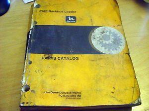 John Deere 410E Backhoe Loader Tractor Parts Manual Catalog Book List JD PC2575