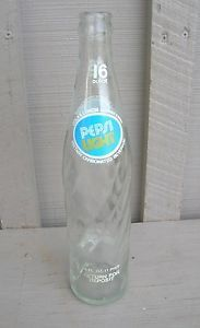 Old Vintage Pepsi Light Cola Beverages Soda Pop Bottle 16 FL Oz