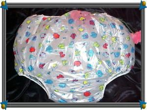 1 Adult Baby Diapers RARE Snap Plastic Pants Dress 15 Prints AB Incontinence √√