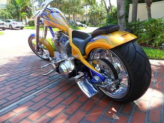 Custom Chopper Built by Eddie Trotta Thundercycle in ft Lauderdale One of A Kind