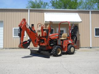 2008 Ditch Witch RT40 Trencher Backhoe Dozer Blade 646 Hours Nice Machine