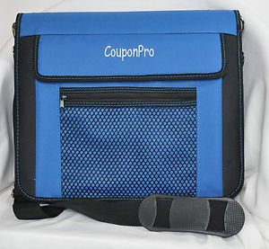 Couponpro Coupon Organizer 3 Ring Binder Zippered Shoulder Strap w Pockets