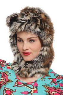 Tiger Faux Fur Hat