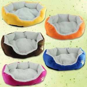 Indoor Soft Comofortable Cat Pet Puppy Dog Bed Sleep Nest Pad House Basket Mat M