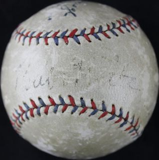 Yankees Babe Ruth Lou Gehrig Signed Authentic OAL Baseball JSA PSA DNA T113
