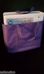 Coupon Binder Tote 40 Assorted Pocket Pages Extreme Coupons BONUSES Galore