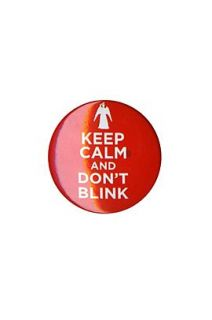 Doctor Who Keep Calm And Don't Blink Pin