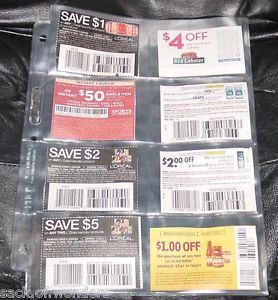5 8 Pockets Pages for 3 Ring Coupons Binder Organizers Sleeves Free SHIP